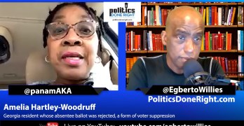 Amelia Hartley-Woodruff – Georgia resident whose absentee ballot was rejected – voter suppression