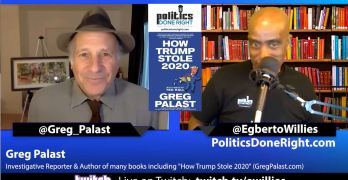 Greg Palast discussed how voter roll activism saved our democracy & elected Joe Biden