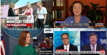 MMT Stephanie Kelton on infrastructure, & Jen Psaki, Katie Porter, Jake Tapper highlights