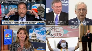 Believe Mitch, Chuck Todd destroys Republican Party. Katy Tur on family leave, #FreeTheVaccine