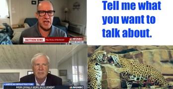 Tell me what you want to talk about. Chris Matthews & Matthew Dowd recap. Thom Hartman on GOP