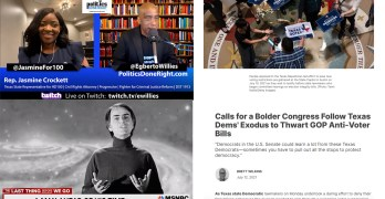 TX Democrats- Spine National Democrats must show. TX Rep. Jamine Crockett speaks. Prophetic Sagan