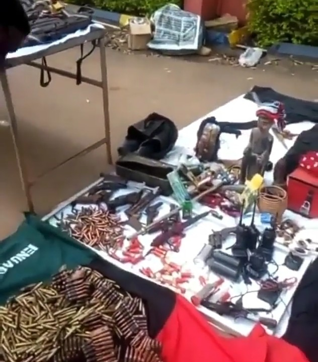 Police Recover Deadly Charms, Guns From IPOB members [PHOTOS]