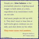 Climate Change Science Deniers, Ignorance and Media's False Balance