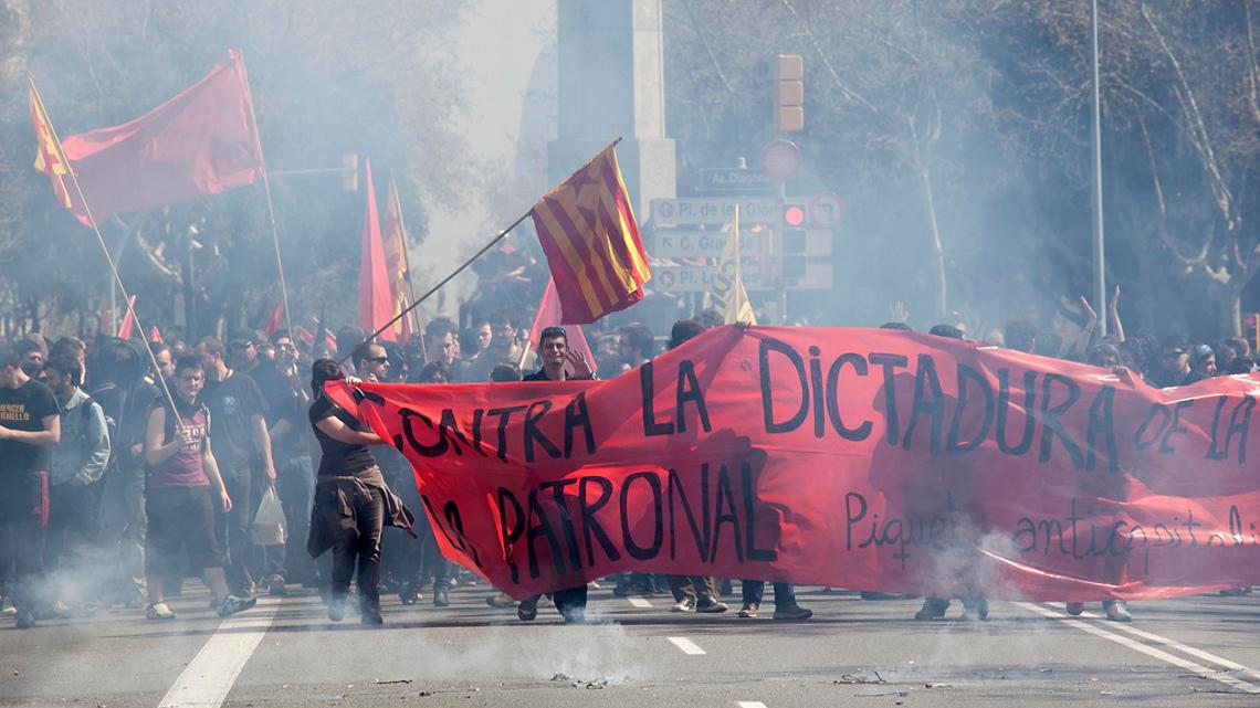 Загальни страйк у Каталонії. CNT