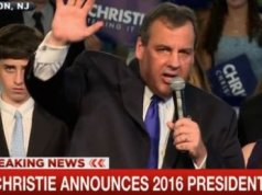 Chris Christie announces