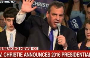 Chris Christie announces