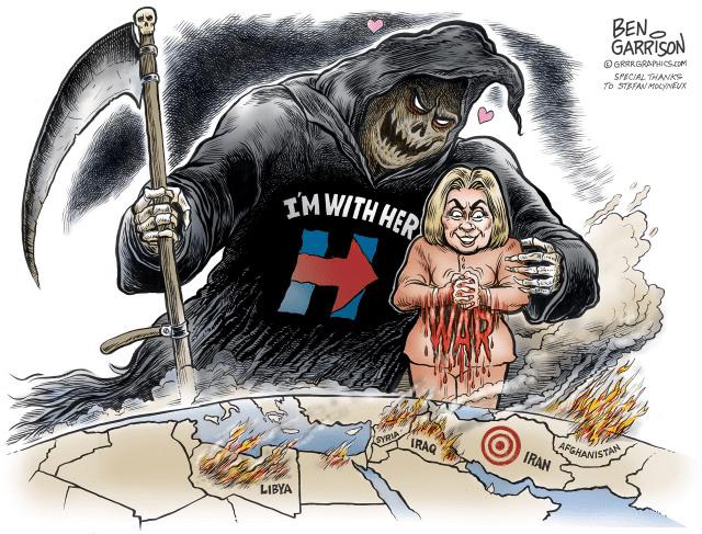 War with Hillary - Ben Garrison - Devil