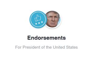 Endorse Trump Facebook