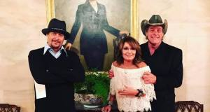 TROLL PHOTO of the YEAR Goes to ... Kid Rock, Sarah Palin and Ted Nugent Sarah Palin posted pics of the trios visit to the White House and a photo op with President Trump in the Oval Office.