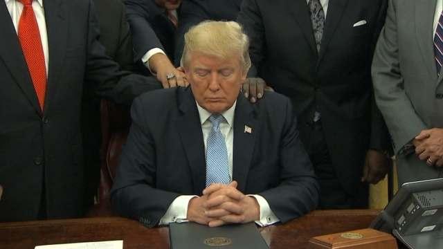 President Trump Offers Prayers to the Media!
