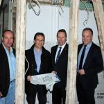 Kay Wegermann, Diethelm Salomon ,Landrat Jochen Hagt, Bürgermeister Peter Koester (Bild: Nils Hühn, Oberberg Aktuell
