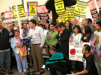 Immigrant Rights press conference