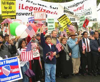 Costa Mesa immigrant rights rally