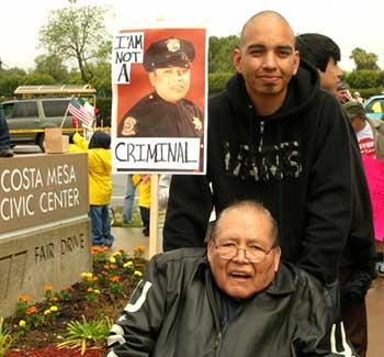 Costa Mesa immigrants rights rally