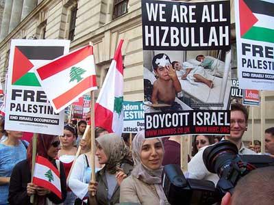 Stop The Lebanon War. London protest.