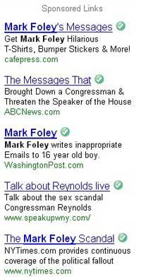 Mark Foley Google Adwords - right