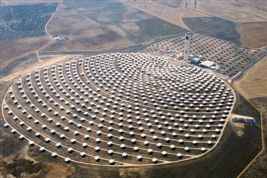 Solar power tower in Spain