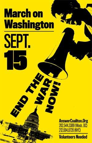 September 15. Stop the War. DC