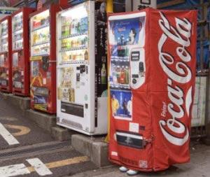 Coke machine disguise for women
