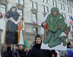 Anti-War protesters at Bush's 2nd inauguration, Washington DC. Jonathan McIntosh