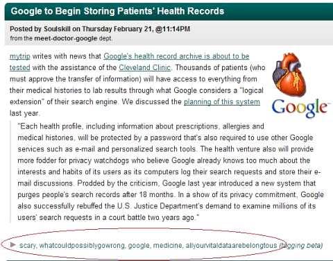 Google Health plan