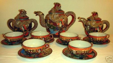 Japanese lithopane tea set