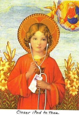 Closer iPod to Thee. Carascissoria.com greeting card