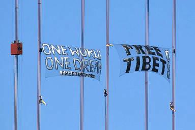Golden Gate Bridge, Tibet protest