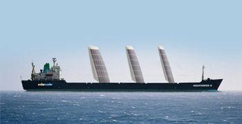 solar sails on tanker