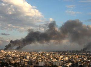 gaza strike. TimesOnline. (Khalil Hamra/AP)