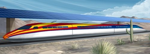 solar powered high speed rail