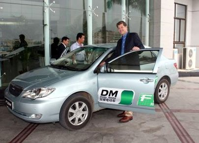 Steve Clemons at BYD Auto Headquarters in Shenzhen, China; photo credit: Peter Pi