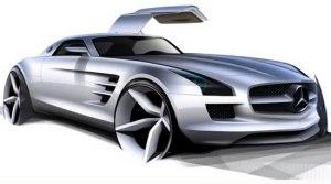 2011 Mercedes Benz SLS AMG Topshot