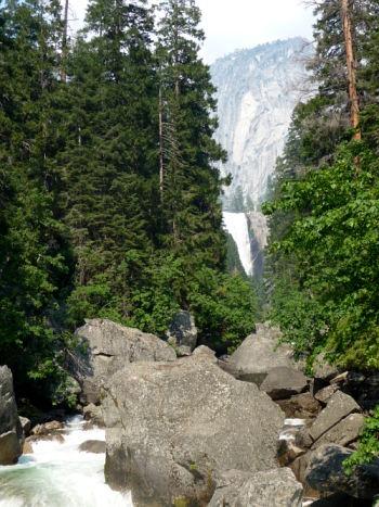 Mist Trail waterfall. Yosemite