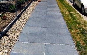 rubber sidewalks