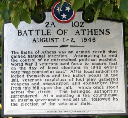 battle of athens sign