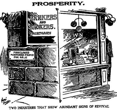 What goes around comes around. From Missouri State Populist Party cartoon collection