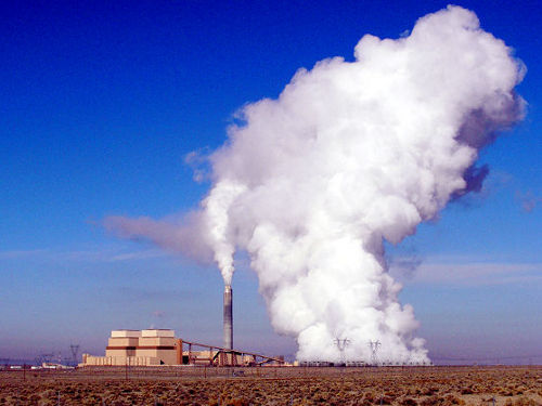 The Intermountain Power Plant in Utah provides coal power to Los Angeles Credit: geology.utah.gov