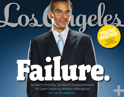 Los Angeles writes the epitaph of outgoing mayor Villaraigosa. Incoming mayor Garcetti will fare no better,
