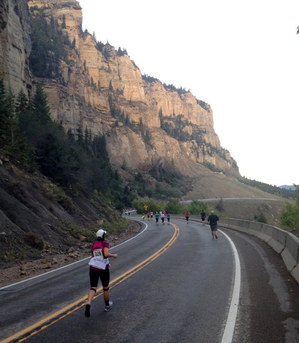 Mile 3. Cedar City Half Marathon