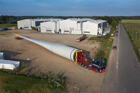 One blade for the turbine. Credit: windpowermonthly.com