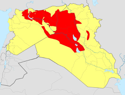 Territory controlled by ISIS, June 2014. Wikipedia