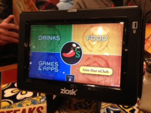 Ziosk tablet at Chili's