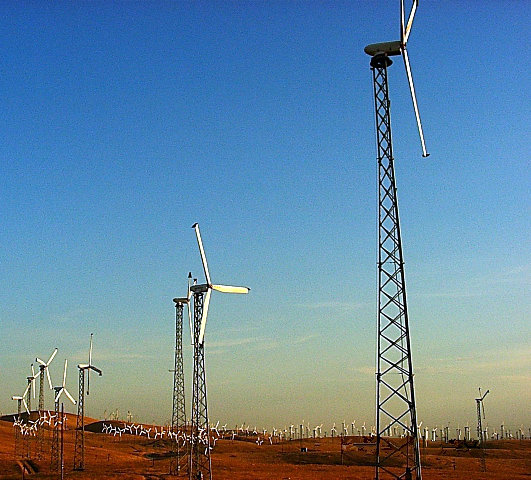 1980's wind turbines at Altamont