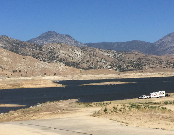Lake Isabella water line is way below normal.