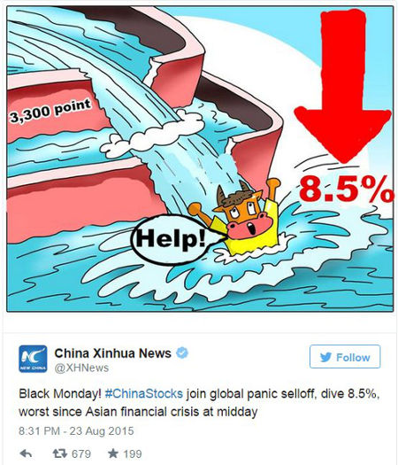 China stock market crash tweet