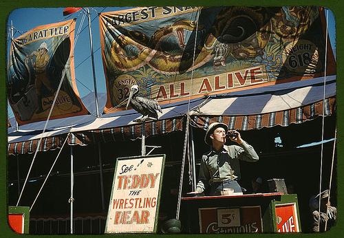 carnival barker photo