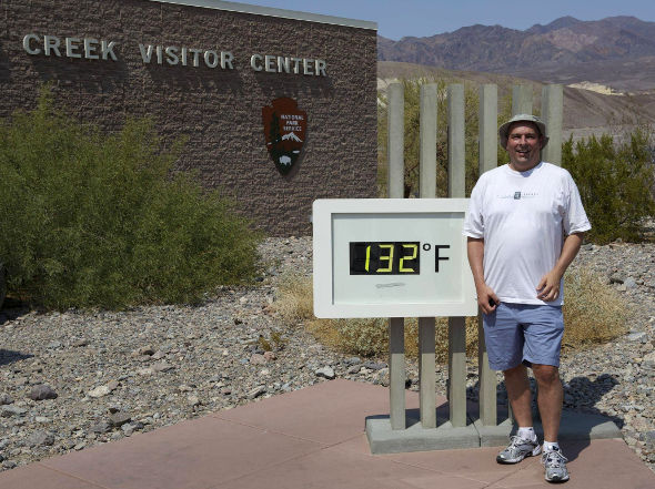 Furnace Creek, Death Valley. 132 degrees