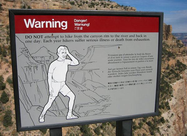 Canyon Hot weather warning